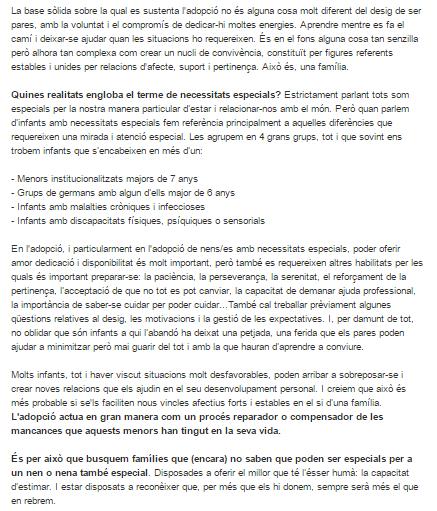 Adopcions NEE - Emilio Mercader Social.cat