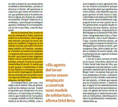 Montserrat Tohà a El Periódico de Catalunya