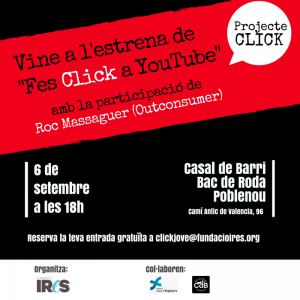 Invitació Click a Youtube