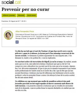 Prevenir per no curar a Social.cat